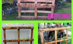 Any form of furniture made from pallets. We make pallet