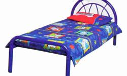 Bed frame and spring coil mattress for sale. Metal