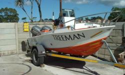 Beskrywing The Ski-Boat is a 4.7 Ace Craft, mono hull,