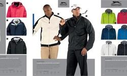 We supply Slazenger Jackets, Golf Shirts and renowned