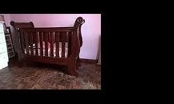 Wooden Sleigh cot Perfect condition