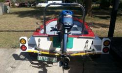 Small Bass Boat in complete working order. Comes