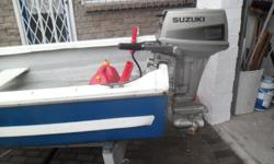 Small boat with buyency certificate and 15 hp Suzuki