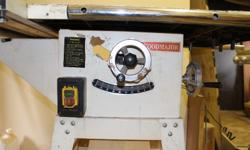 Industrial table saw with: Sliding cutting table (90 to