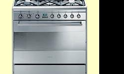 SMEG 80cm 5-plate gas stove with electric