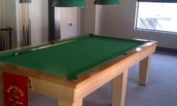 WELL MAINTAINED SNOOKER TABLE + ALL ACCESSORIES TO GO.