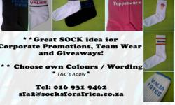 Beskrywing **Great SOCK idea for Corporate Promotions,