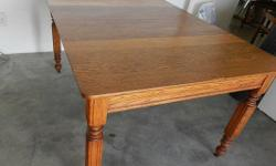 I have a solid oak six seater table for sale. Great