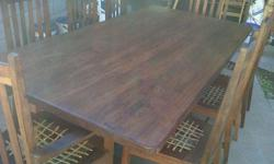 Very beautiful and very heavy 45mm thick solid teak
