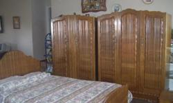 Nice solid wood bedroom suite. Old style. They don't