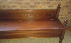 Beautiful solid wood, demo bench as new from