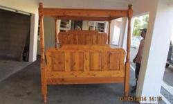 King size solid four poster bed for sale R4000