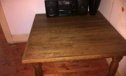 Solid wooden square coffee table in very good condition