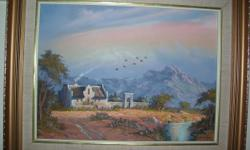 Beskrywing This is an original framed oil paining dated