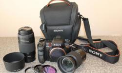 Beskrywing Sony A700 DSLR camera with: 18-70mm lens,