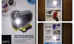 Brand new Sony action camera , hd video/pictures , wifi