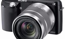 Brand new Sony Alpha NEX-F3 with interchangeable