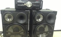 Sony big sound speaker system with amp Model: