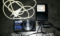 Sony Cybershot Digital Camera w690. In great condition.