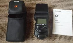 I am selling my Sony Flash HVL-F58AM. Excellent