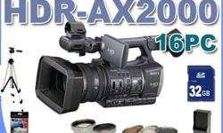 Beskrywing Sony HDR-AX2000 AVCHD Camcorder Brand New