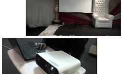 SONY PROJECTOR WITH SCREEN FOR HIRE R550 FOR PROJECTOR