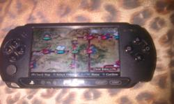 Sony PSP black edition with 2games a movie, charger
