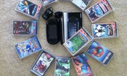 PSP WITH CASE AND 14 GAMES