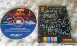 Sound blaster Live PCI sound card Software cd included