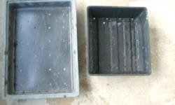 Black plastic sowing trays-still in good useable