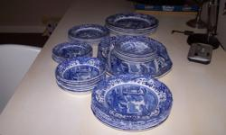Spode  Italian Blue Dinner service for sale consisting