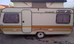 SPRITE CARAVAN FOR SALE TWO PLACES WOOD ROD SPORTED