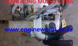 SsangYong musso 2.9L Tdi engine[used/imported]  Good