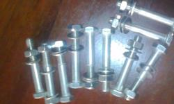 All new bolts with a nut and washer stainless steel
