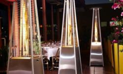 Stainless Steel Pyramid Flame Patio heater ,Elegant and