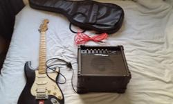 Starfire electric guitar and amp for sale. Includes the
