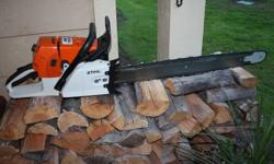 HERE IS A NICE STIHL 066 MAGNUM CHAINSAW
