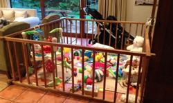 Im selling my beautiful wooden playpen Very strong and