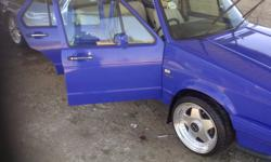 I am selling my PIMPED out electric blue 1.6 citi golf