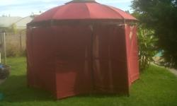 Sturdy Metal Gazebo with covering for sale. Good