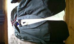 Black suit for sale,used once only. Black jacket and