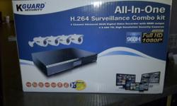 All in One H.264 Surveillance 4 CHANNEL Combo Kit, =