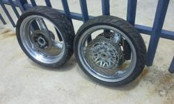 suzuki bandit wheels for sale its a set with tyres not