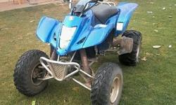 I have a Suzuki LTZ 400 cc for sale for R13,000.00. It