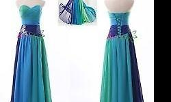 New Chiffon Sweetheart Party Evening Dress Formal Long