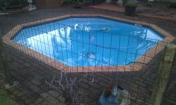Pool fibreglass, 3.8 x 3.8 m 1.5 m deep for sale. it is