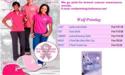 Join the fight with Wolf Printing and Barron - go pink