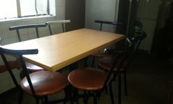Six chairs and table for the kitchen. Csn be used in a