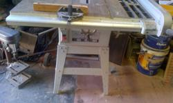 10 inch Martlett table saw with guides. Place to mount