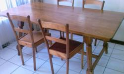 1.Solid oak dining room table L180 W 90 H 75 cm and